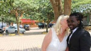 Ugandan-singer-Ronald-Ssemawere-his-bride-Mona-Lisa-Larsson-on-their-wedding-day