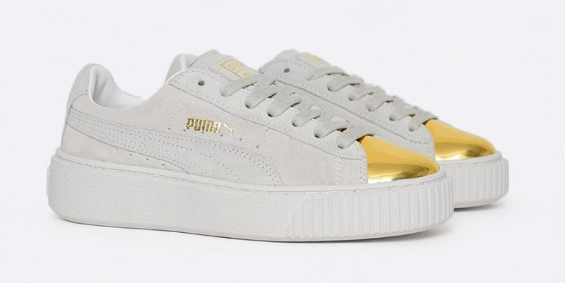 "100% authentic 79f36 e8046 Checkout For Puma Suede Platform ""Gold Toe"" Pack"